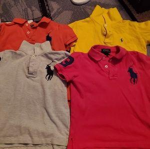 Lot - ralph lauren polos - 4 shirts